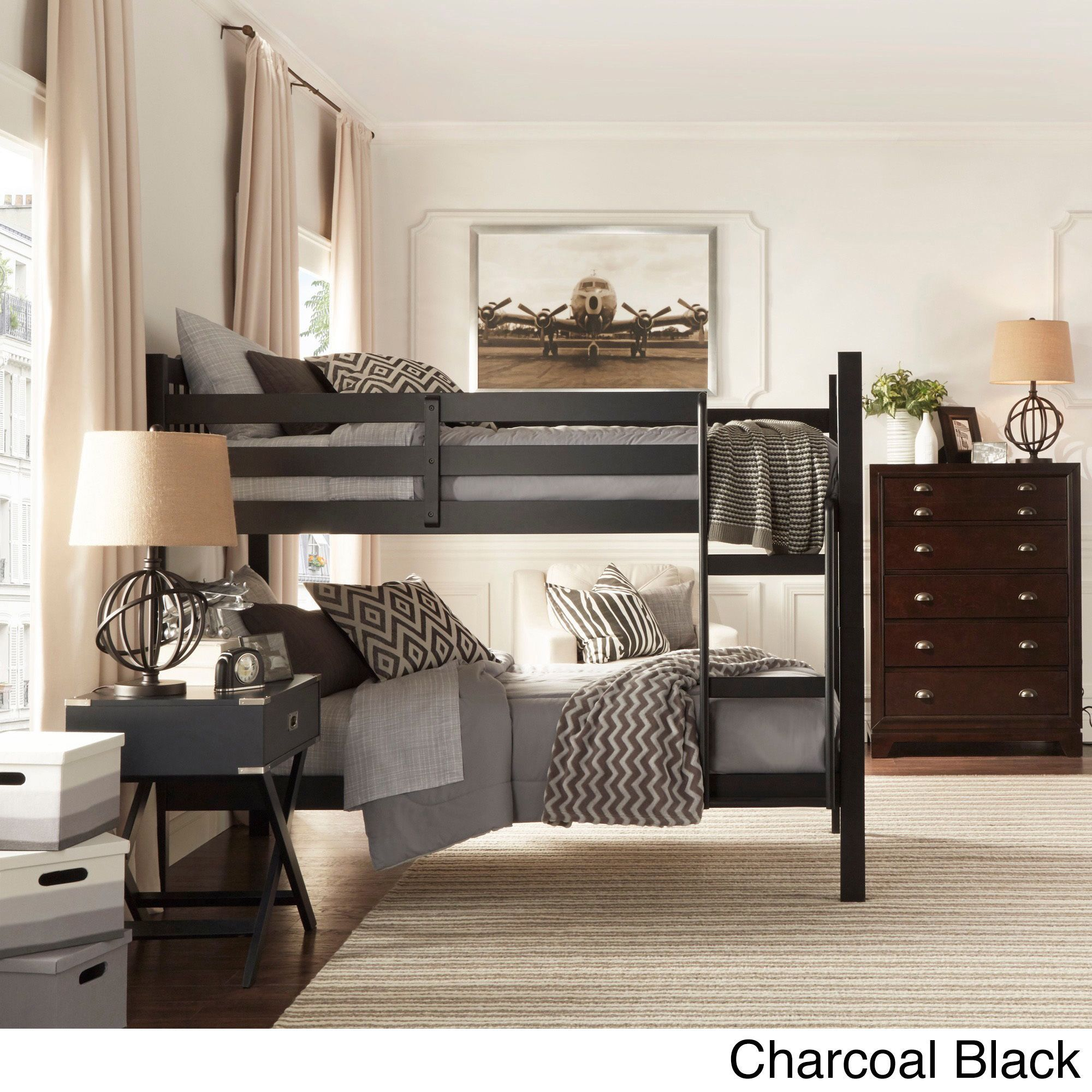 iq kids simone twin and twin bunk beds 12759194 overstock com