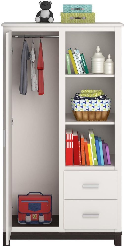 Kids Clothing Storage Unit Wardrobe Closet Armoire For Clothes With Shelves  Door #Cosco