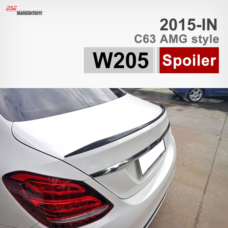 2015 New C63 Amg Look Carbon Fiber Rear Trunk Spoiler Wing For Mercedes Benz C Class W205 Saloon C200 C250 C300 C350 C400 C220 Benz C Mercedes C Class