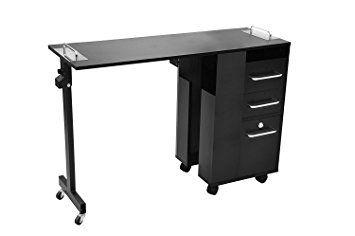Manicure Table (Black) Versatile, Rolling – Taylor Review