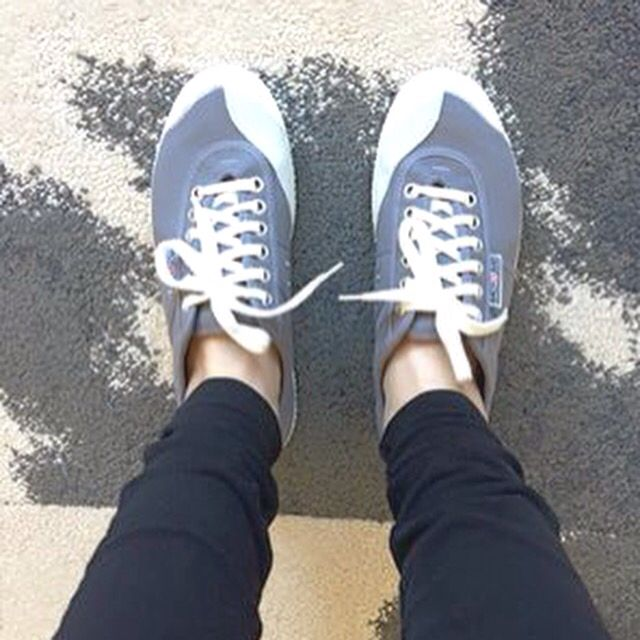 Grey canvas sneakers for men and women