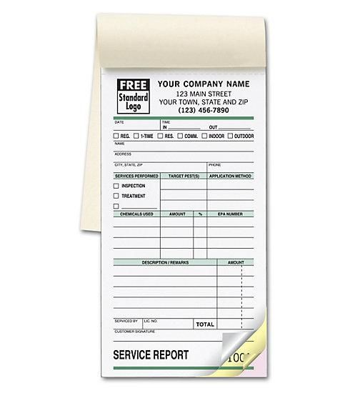 Pest Control Receipt Book Small Service Order Booklet Pest Control Services Pest Control Tag Print
