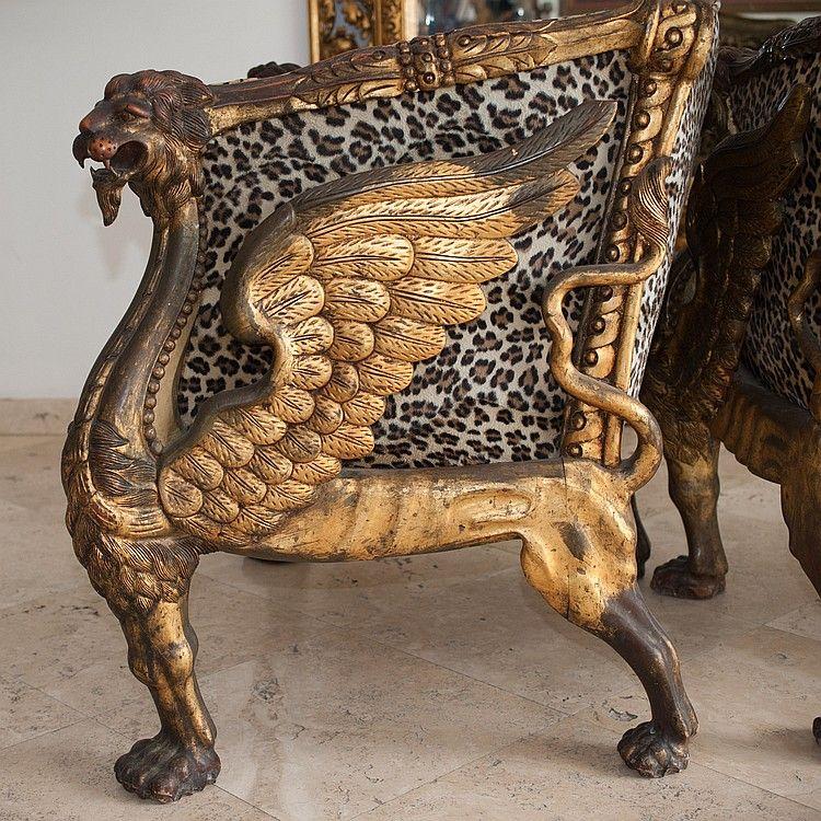 Leopard Fabric & Wood Sofa Set Wood sofa, Sofa set