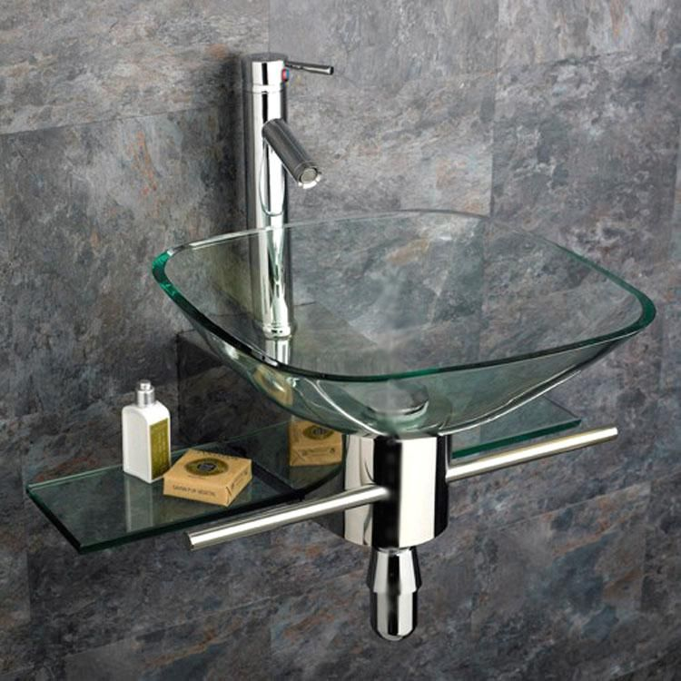 Wonderful Kokols Wall Mount Vanity And Glass Vessel Sink Combo By Kokols