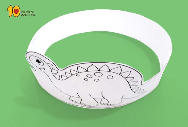 Dinosaur Paper Crown Printable Template Dinosaurs Preschool