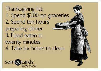 Funny And Soo True Thanksgiving List Funny Thanksgiving Holiday Humor