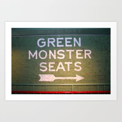 Green Monster Seats Art Print by glomung - $20.00