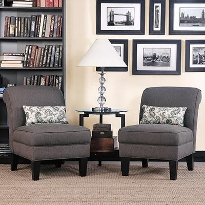 Carmon Fabric Accent Chair 2 Pack Includes Two Pillows Minor Embly