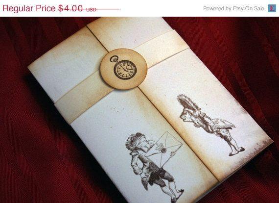 BLACK Fri CYBER Mon SALE Save the Date - Alice in Wonderland invitation - Vintage Appearance on Etsy, $3.60