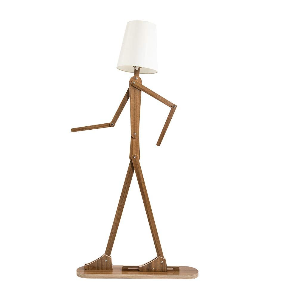 Hroome Modern Contemporary Decorative Wooden Floor Lamp Light With Fold White Fabric Shade Adjus In 2020 Wooden Floor Lamps Contemporary Floor Lamps Modern Floor Lamps