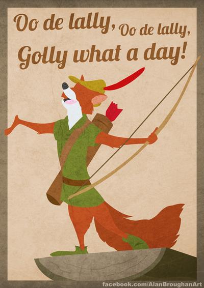 Minimal Style Art For Disney S Robin Hood Robin Hood Disney Robin Hood Robin Hood Quotes