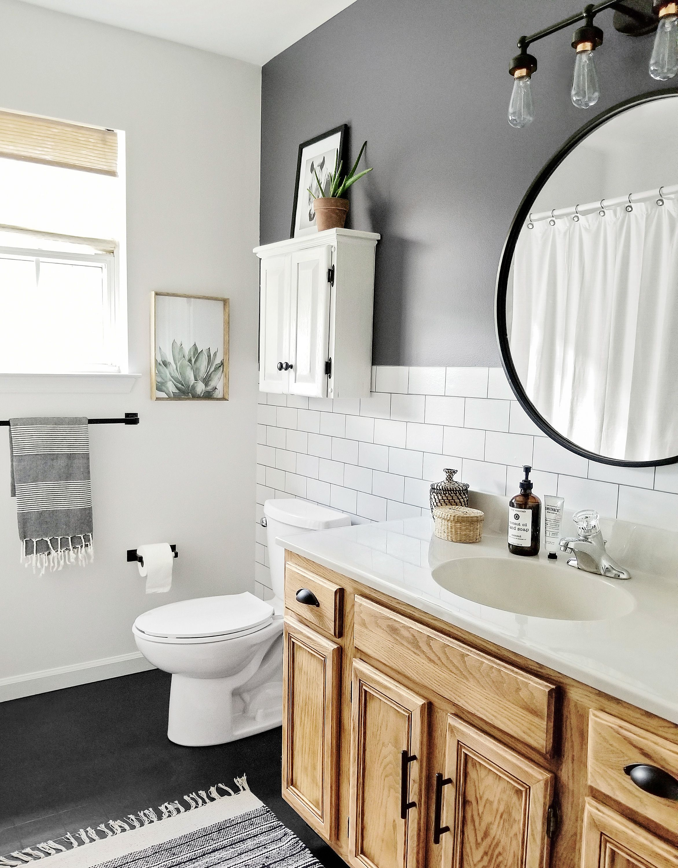 Bath Makeover For 189 Small Bathroom Remodel Bathroom Makeover Budget Bathroom