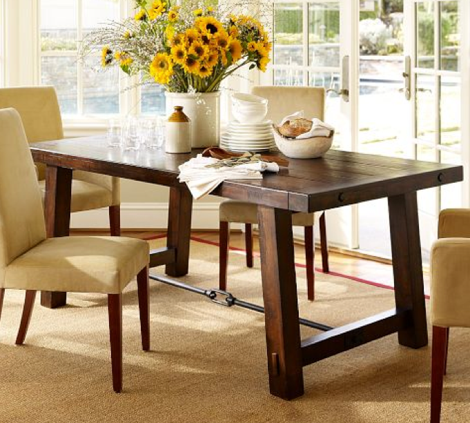 Benchwright Fixed Dining Table: Pottery Barn Benchwright Fixed Length DR Table.