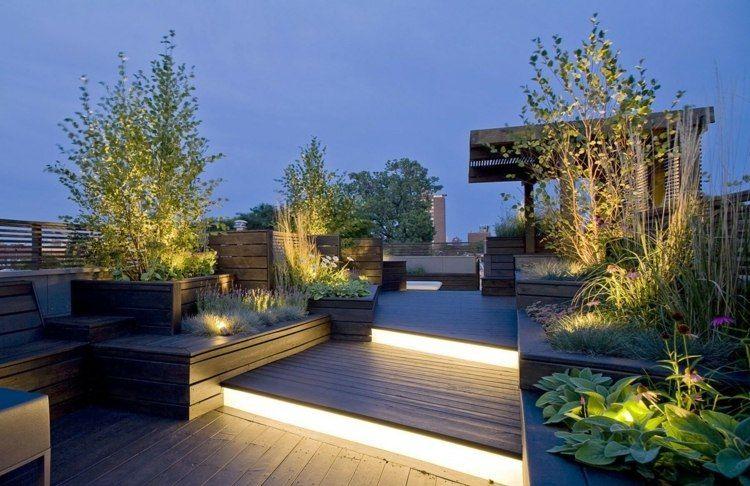 led indirekte beleuchtung auf terrasse garten pinterest led beleuchtung beleuchtung und led. Black Bedroom Furniture Sets. Home Design Ideas