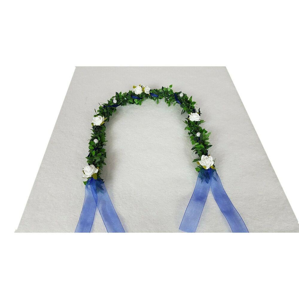 Ehrenplatz Ranke blau Kommunion Konfirmation Tischdeko DKD/_EKB-80