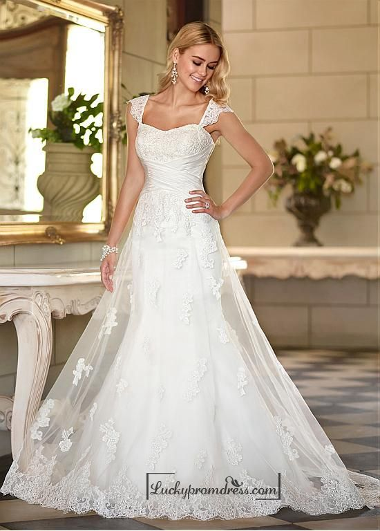 Alluring Tulle Sweetheart Neckline Raised Waistline A Line Wedding Dress