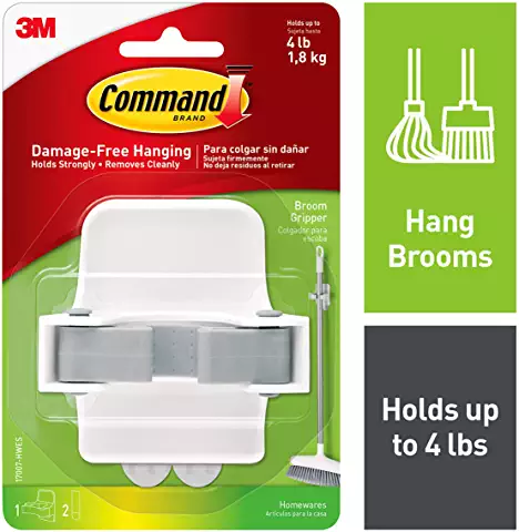 Amazon Com Command Strips Heavy Duty Broom Push Broom Broom Storage