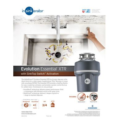 App 37 Garbage Disposal Insinkerator Evolution Essential Xtr