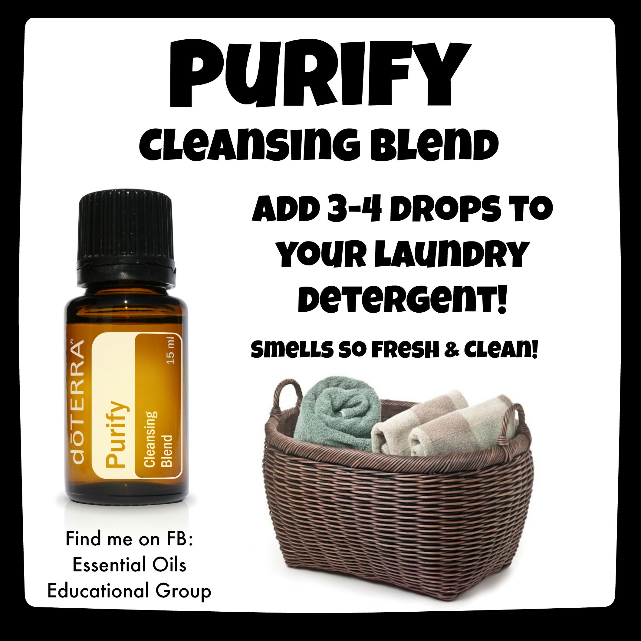 Doterra S Purify Cleansing Blend Great For Laundry Find Me On Fb
