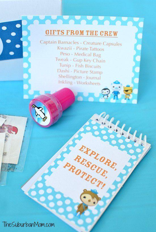 Octonauts Birthday Party Goodie Bag Ideas Free Printables Diy
