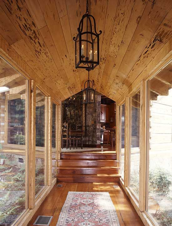 Pin By Lorrie Moore Maringo On Sunroom Log Homes Breezeway House Exterior