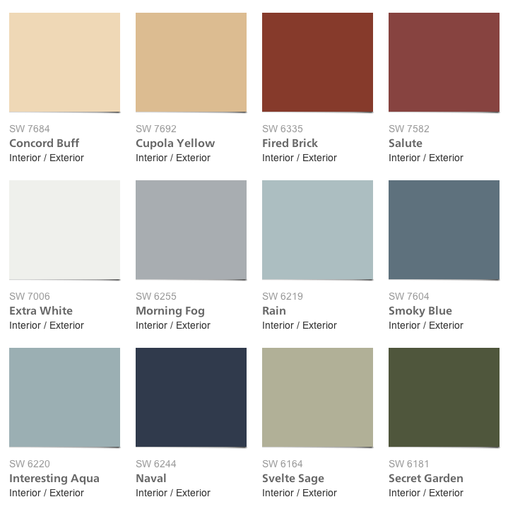 Sherwin Williams   Pottery Barn Paint Colors   Spring/Summer 2014  Collection Could Use For The Family Room And The Dinning Room.