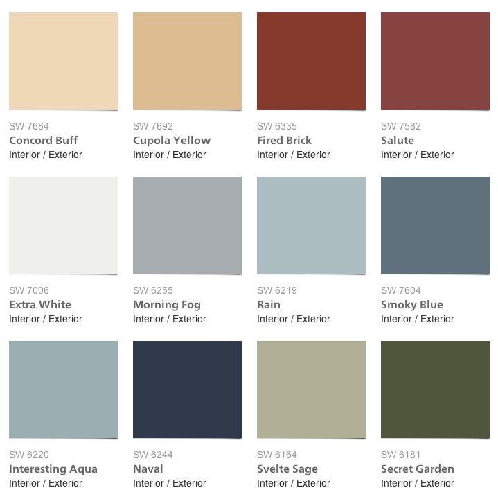 Sherwin Williams amp Pottery Barn Seasonal Color Palette