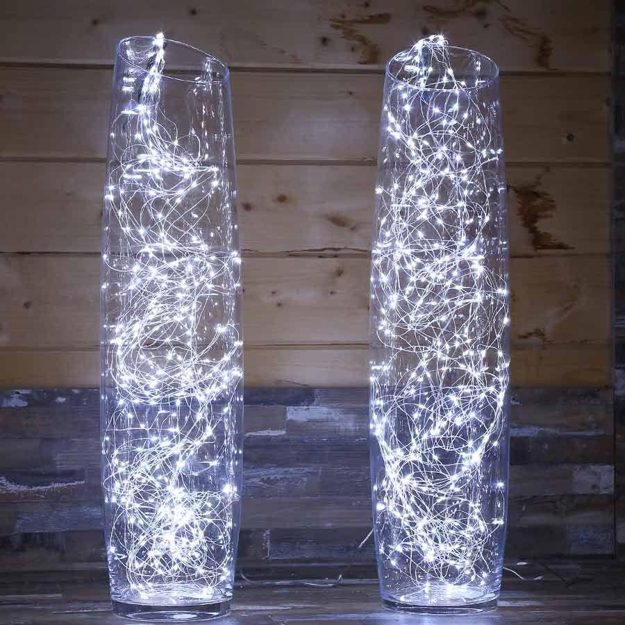 Draht #Lichterbündel silberfarben geeignet für innen und außen ...