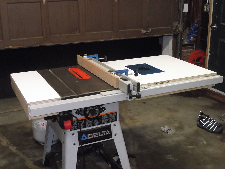 Table Saw Extension Wing Router Jigs Tools In 2019