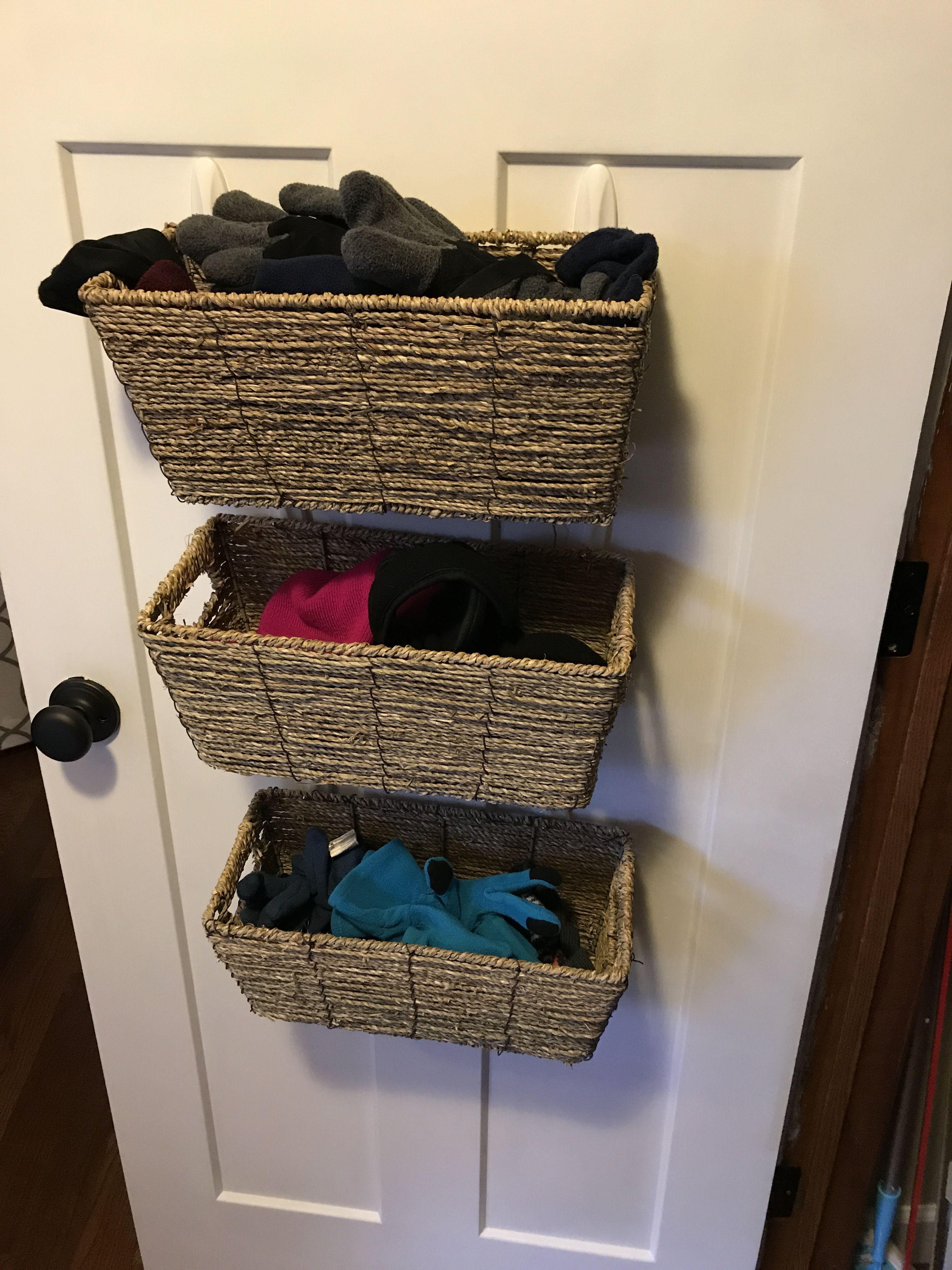 Closet organizer for hats and gloves closet organization