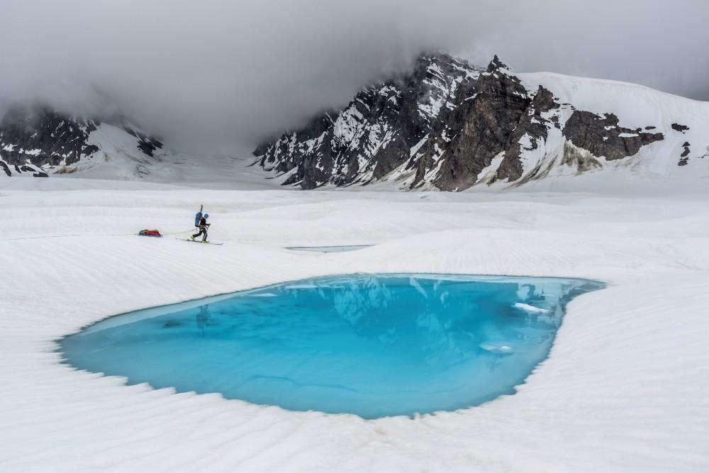 Glacier lake Denali, Canada