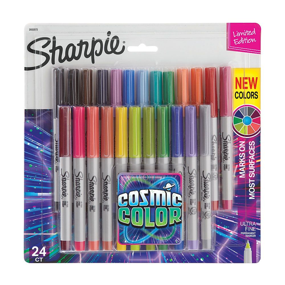 10 Pack Permanent Marker Pens Assorted Multi Colour Fine Point Tip Like Sharpie