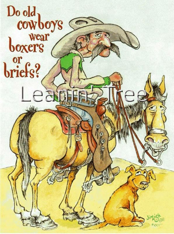 Leanin Tree Boxers Or Briefs Cowboy Birthday Card Products