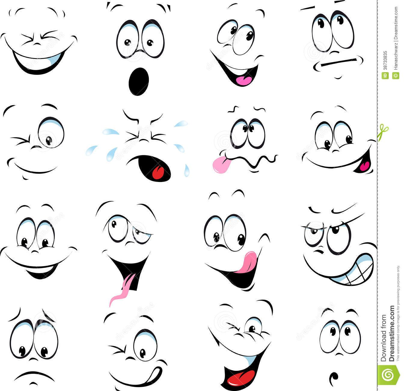 People Clay Vector Pot Faces