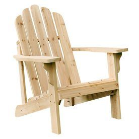 Shine Company Marina Natural Cedar Patio Adirondack Chair 4618n