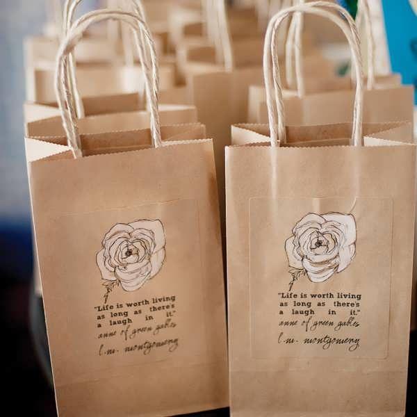 bridal shower favor bags ideas