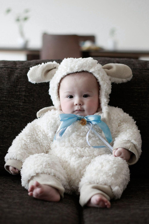Handmade Baby Lamb Costume  sc 1 st  Pinterest & Handmade Baby Lamb Costume | Halloween Ideas | Pinterest | Baby lamb ...