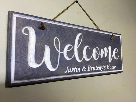 Wooden Decor Signs Fascinating This Is A Personalized Wood Welcome Sign Hung With Natural Hemp Inspiration