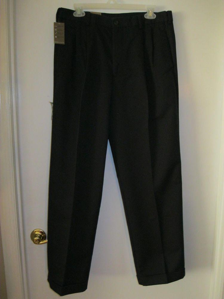 80fb756be6595c Dockers Men's Comfort Khaki D4 Relaxed-Fit Pleated-Cuffed Pant Navy Sz  33X30 NWT #Dockers #DressPleat