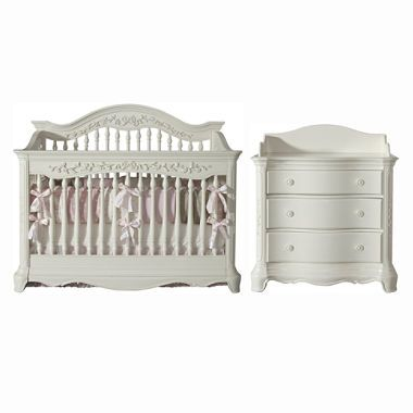 Savannah Baby Furntiure Collection French White 2 Pc 644 00 With Dresser Furniture