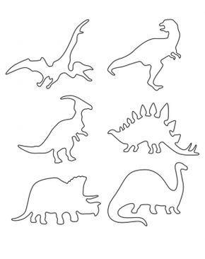Diversas Planillas De Dinosaurios Para Colorear O Utilizar Como