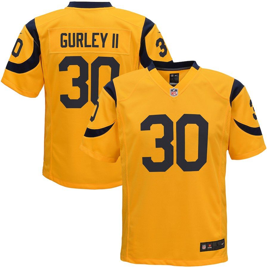 be4a888a5 Todd Gurley II Los Angeles Rams Nike Youth Color Rush Game Jersey - Gold