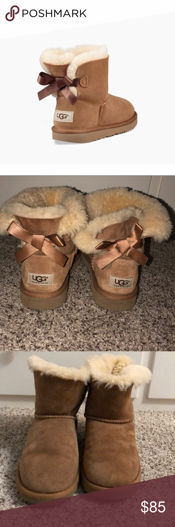30f347c20ed Kids Tan Mini Bailey Bow II Boot Last picture has all the details ...