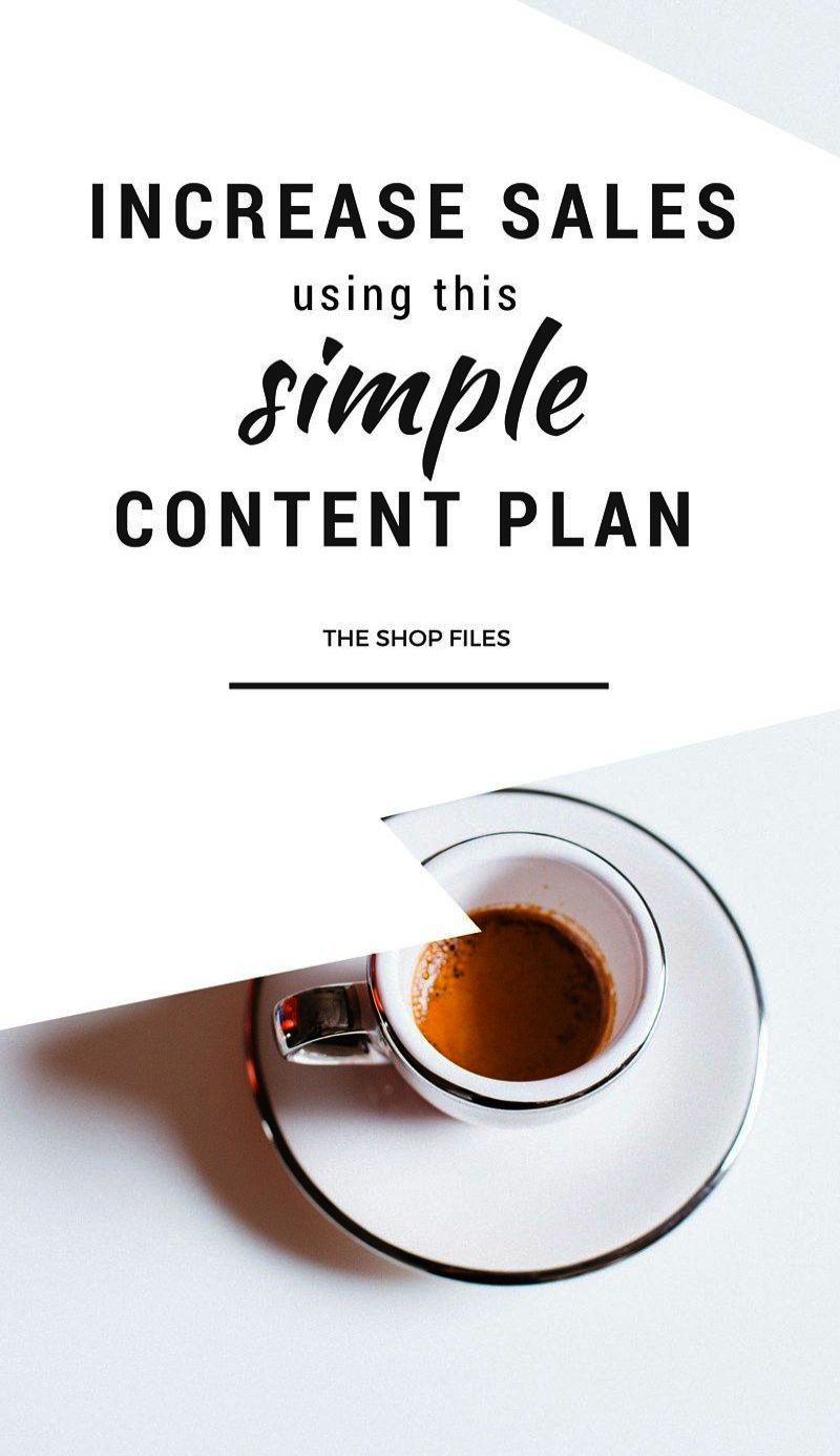 Use this simple content plan to increase sales for your online shop use this simple content plan to increase sales for your online shop or etsy shop content marketing strategy marketing strategy templates retail wajeb Choice Image