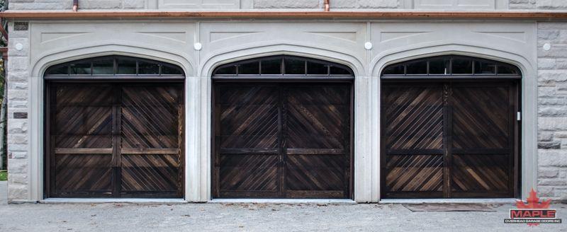 3 Thick Cedar Herringbone Overlay Garage Doors Garage Doors