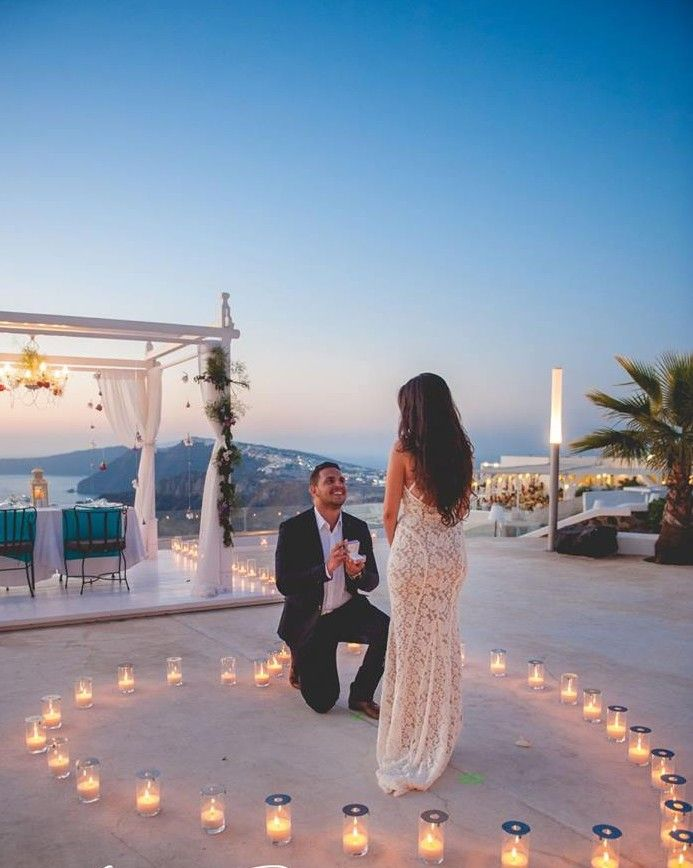 This Santorini Marriage Proposal Might Be The Prettiest Weve Ever