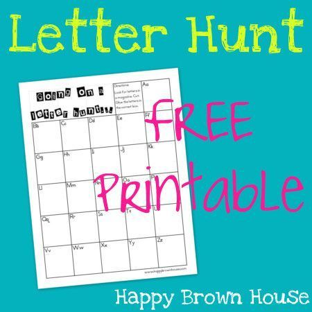 Letter Hunt Free Printable  Brown House Free Printable And