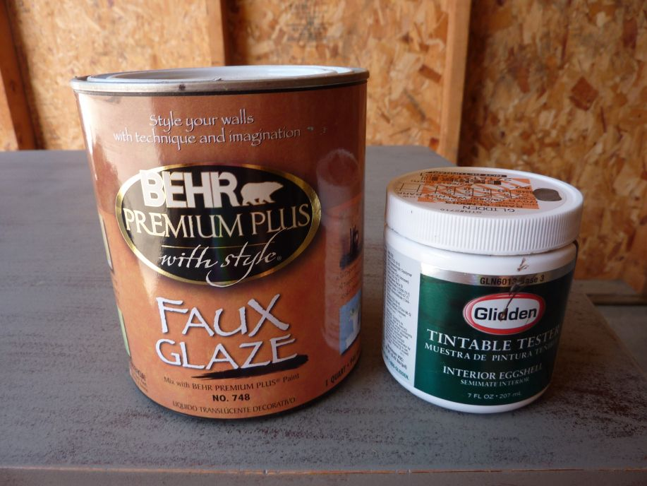 Behr S Faux Glaze And Glidden Test Paint Brown Perfect