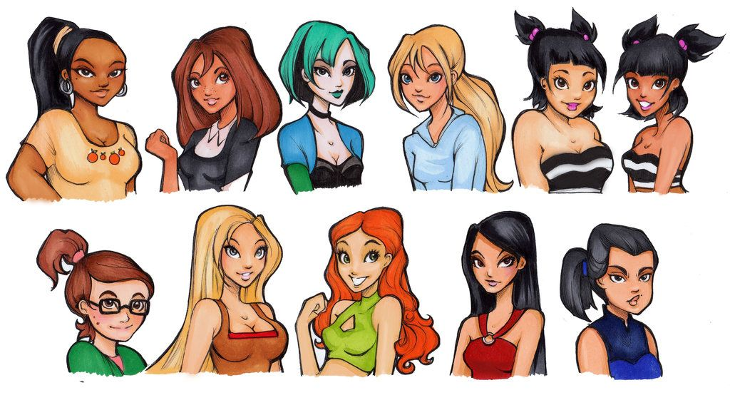 Total Drama Island Girls Drawn More Realistically | TV ...