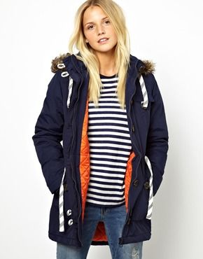 Bellfield Parka Jacket With Faux Fur Trim Hood | Style I Dig ...